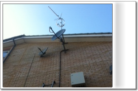 An aerial and satellite antenna array fitted for and IRS system